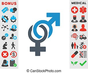 Sexual Symbols Icon - Sexual Symbols vector icon. Style is...