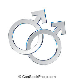 Vector illustration of sexual union symbol on white