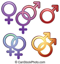 Sexuality symbols - Collection of symbols for gender and...