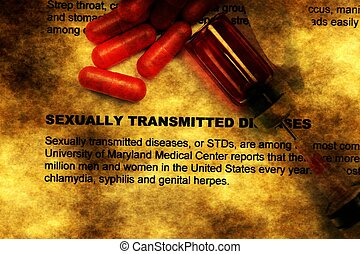 Sexually transmitted disease grunge concept