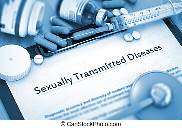 Sexually Transmitted Diseases. Medical Concept. - Diagnosis...