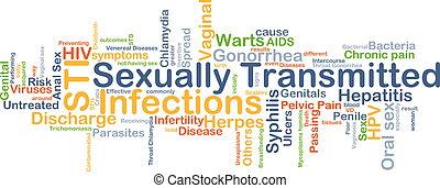 sexuell übertragen, infektionen, sti, hintergrund, begriff