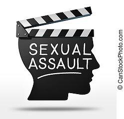 sexuellt angrepp, in, underhållning