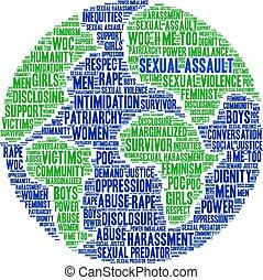 sexuellt angrepp, ord, moln