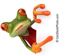 sexy, żaba