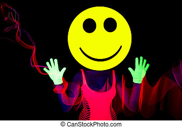sexy acid smiley rave dancer - sexy acid house smiley rave...