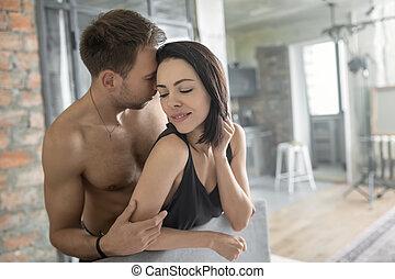 sexy, agganciare abbracciare