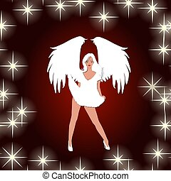 sexy angel with stars