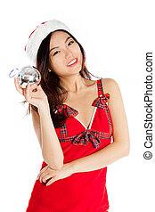 Sexy asian santa claus