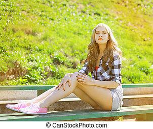Sexy beautiful girl posing in urban style, outdoor fashion...