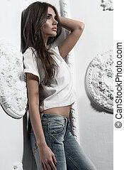 Sexy beautiful woman posing