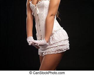 sexy, biały