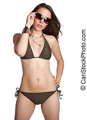 sexy, bikini, donna