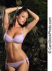 sexy, bikini, model
