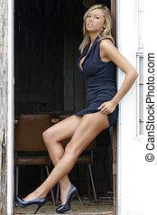 sexy, blond, modèle
