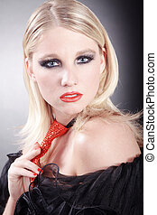 sexy blond woman posing