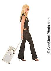 Sexy blonde businesswoman