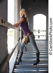 Sexy Blonde Construction Worker (4)