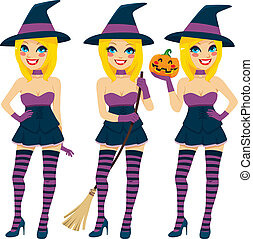 Sexy Blonde Witch