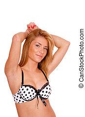 Sexy blonde woman.