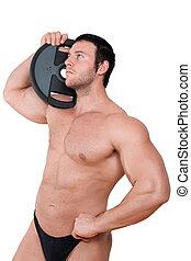 Sexy bodybuilder.