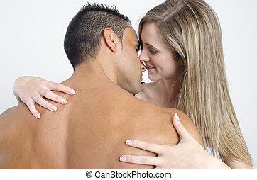 sexy, chaud, couple