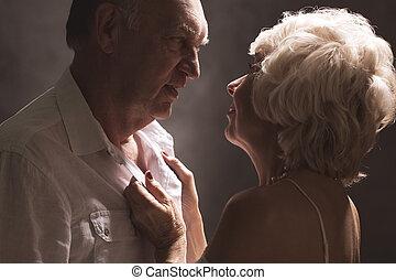 sexy, coppie maggiori, durante, preliminari amorosi