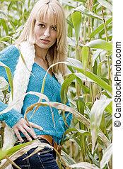 Sexy cornfield girl