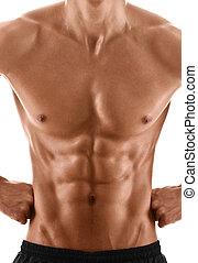sexy, corpo, di, muscolare, uomo