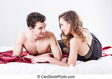 Sexy couple in bed