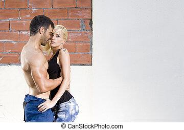 sexy couple passion