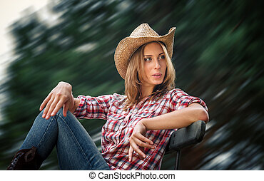 Sexy cowgirl.