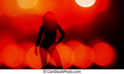 sexy dancer shadow, silhouette