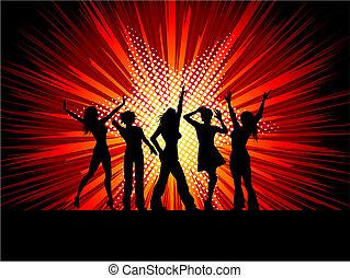 sexy, dansers, vrouwlijk