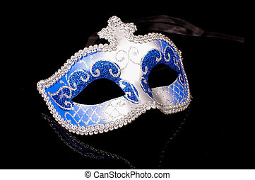 Sexy domino mask seduction concept isolated