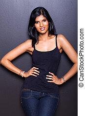 sexy, donna, moda, indiano