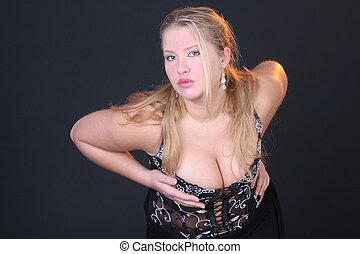 sexy, dziewczyna, taniec