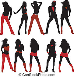 Sexy fashion woman vector illustration