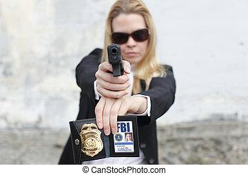 Sexy FBI agent