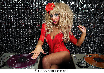 sexy female drag artist Djing - a beautiful sexy female drag...