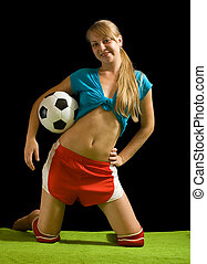 Sexy female  football player