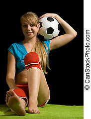 football player with ball