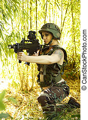 Sexy female soldier