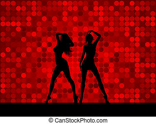 Sexy females - Silhouettes of two sexy females