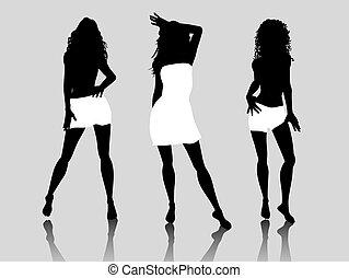 Sexy females - Stylised sexy females