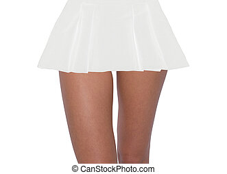 sexy, femme, jupe, jambes