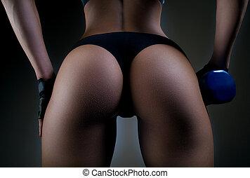 Sexy fitness buttocks close-up