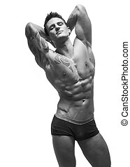 sexy fitness male model - Sexy shirtless male model young...