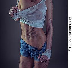 sexy fitness model