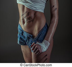 sexy, fitness, modell
